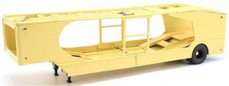 1955 W&K 4-Vehicle 35' Car Carrier Trailer (Yellow)
