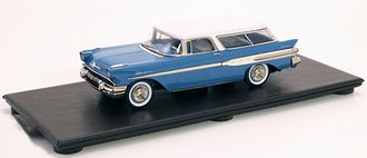 1957 Pontiac Safari Station Wagon (Blue/Cream)