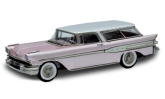 1957 Pontiac Safari Station Wagon (Pink/White)