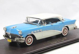 1:43 1956 Buick Century 4-Door Hardtop (Bedford Blue/Dover White)
