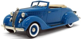1936 Hudson Terraplane Custom Six Convertible Coupe (Open) (Hudson Blue)