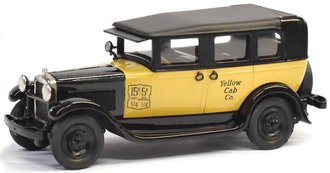 "1:43 1930 GMC Model 6 Taxi Cab ""Yellow Cab Co."" (Yellow/Black)"