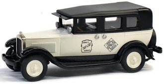"1:43 1930 GMC Model 6 Taxi Cab ""Ernie's Cab - It's A Wonderful Life!"" (White/Black)"