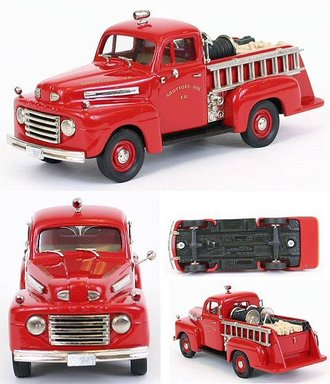 """1948 Ford F-1 Fire Truck """"Grottoes Vol. Fire Dept."""" (Red)"""