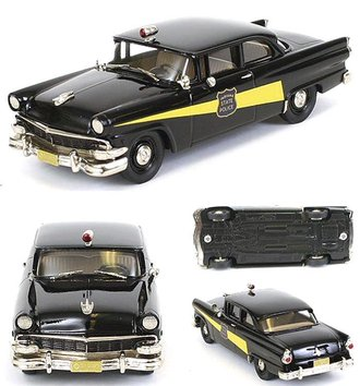 "1956 Ford Mainline Police Car ""Indiana State Police"" (Black)"
