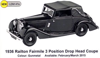 1936 Railton Fairmile 3-Position Drop Head Coupe (Gunmetal)