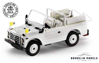 1:43 Vatican 1980 Fiat 1107 Nuova Campagnola (White)
