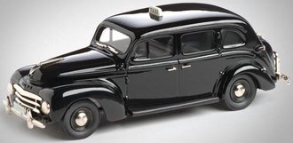 1:43 1950 Volvo PV 831 4-Door Sedan Taxi (Black)