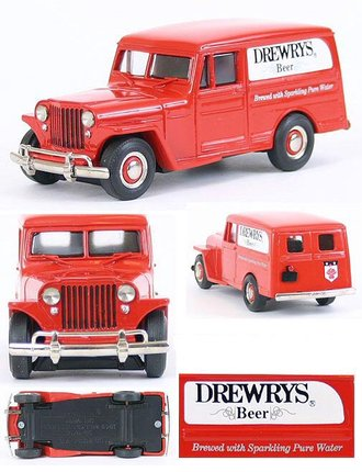 "1:43 1949 Willys Jeep Delivery Panel ""Drewry's Beer"""