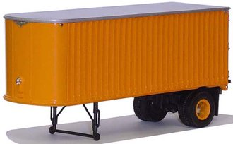 1947 Fruehauf RN 24' Ribbed Box Trailer (Flat Roof) (Fruehauf Orange)