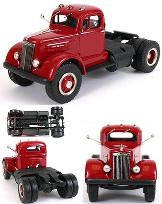 1951 White Mustang WC22 Semi/Tractor Cab (Red/Black)