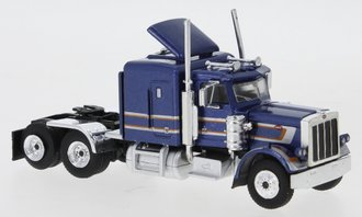 1:87 1973 Peterbilt 379 Tractor (Dark Blue Metallic/Silver)
