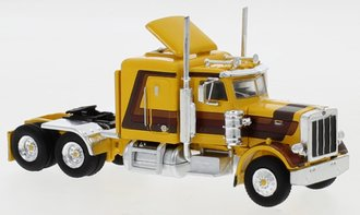 1:87 1973 Peterbilt 379 Tractor (Gold/Brown)