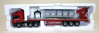"Scania 4 Series Crane Trailer w/Load ""Marley Building Materials"""
