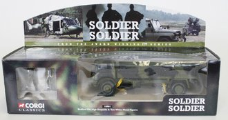 """Bedford MK High Dropside Army Truck """"Soldier Soldier"""" w/2 Figures"""