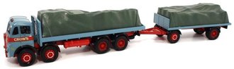 Showmans Atkinson 8 Wheel Flatbed Truck & Flatbed Trailer w/Load
