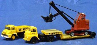 "Thames Trader & Bedford S Lowboy Set w/Priestman Cable Shovel ""Wimpey"""