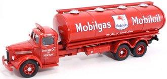 """Mack LJ 6-Wheel Oval Tanker """"Mobilgas-Mobiloil"""""""
