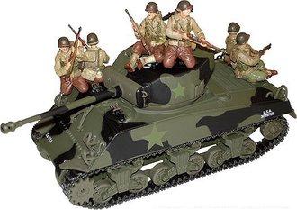 Sherman Tank w/US GI Riders (Comes w/6 Figures)