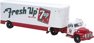 "Diamond T620 w/Skirted Fruehauf Trailer ""Fresh Up With 7-Up"""