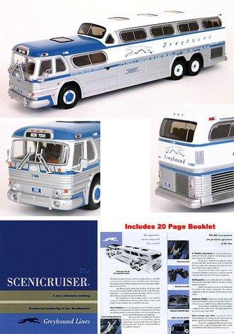 "1:50 Scenicruiser Bus ""Greyhound - New York, NY"" w/Scenicruiser Booklet"