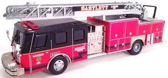 "E-1 75' Ladder Truck ""Bartlett, IL"" (Red/Black)"