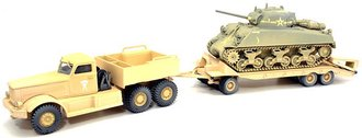 Diamond T Transport w/Sherman Tank