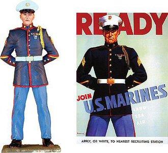 "WWII USMC ""Ready - Join U.S. Marines"" Figure"