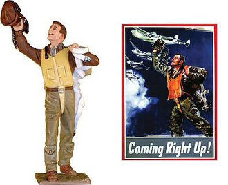 "WWII USAAF ""Coming Righ Up"" Figure"