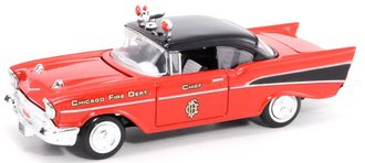 """1:43 1957 Chevy """"Chicago"""" Fire Chief Car"""