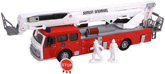 1:50 Simon Snorkel Fire Truck (Red/White)
