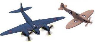 "DeHavilland Mosquito & Spitfire ""RAF"" (Set of 2)"