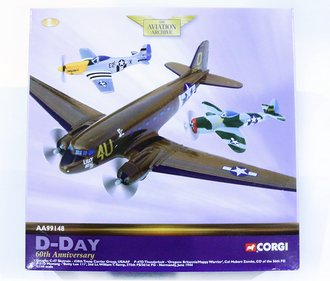 C-47, P-51 Mustang & P-47 Thunderbolt (Set of 3)