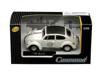 1:43 Volkswagen Beetle #53 (White)