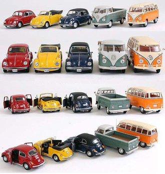 Volkswagen Beetles & Vans (Set of 5)