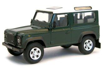 1:43 Land Rover Defender (Dark Green/White)