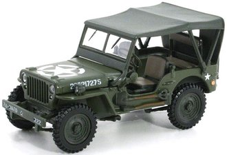 1:43 Jeep Willys Soft Top (Green)