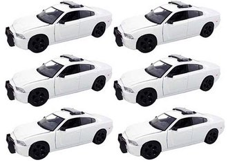 1:24 Quantity of 6 - Dodge Charger Police (White - Undecorated)