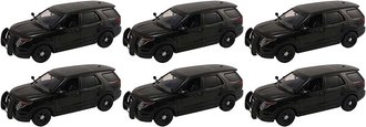 1:24 Quantity of 6 - 2015 Ford PI Utility Police Slicktop (Black - Undecorated)