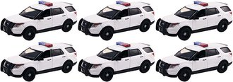 Quantity of 6 - 1:43 2015 Ford PI Utility Police (White - Undecorated)