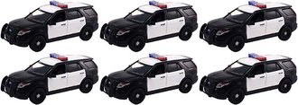 Quantity of 6 - 1:43 2015 Ford PI Utility Police (Black/White - Undecorated)