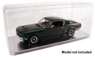Case of 8 - 1:18 Auto Display Case (Mirrored Bottom)