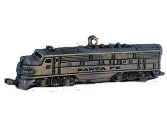 Lionel Ornament - Santa Fe F3 Diesel Locomotive (Pewter)