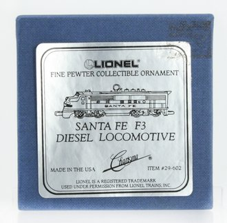 Lionel Ornament - Santa Fe F3 Diesel Locomotive (Pewter)