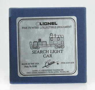 Lionel Ornament - Searchlight Car (Pewter)