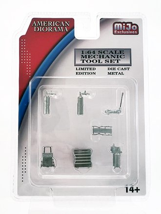 Chase 1:64 Mechanic Tools (Set of 7) *** Raw Casting ***