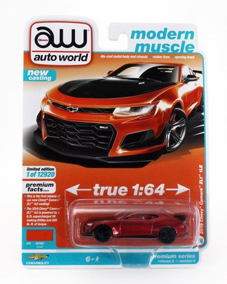 Chase 1:64 2019 Chevrolet Camaro ZL1 1LE (Version A) ***Ultra Red Chrome Version***
