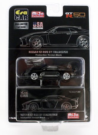 Chase 1:64 Nissan GT-R50 By Italdesign (Black w/Silver Rims)