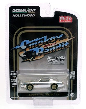 Chase 1:64 Smokey and the Bandit (Chrome Edition) - Bandit's 1977 Pontiac T/A (Silver Chrome)