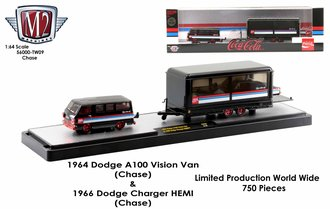 "Chase 1:64 1964 Dodge A100 Vision Van w/1966 Dodge Charger HEMI ""Coca-Cola"""